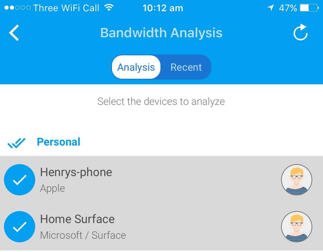 FingBox Bandwidth Analysis