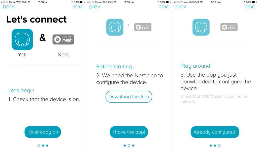 Yeti App Setup