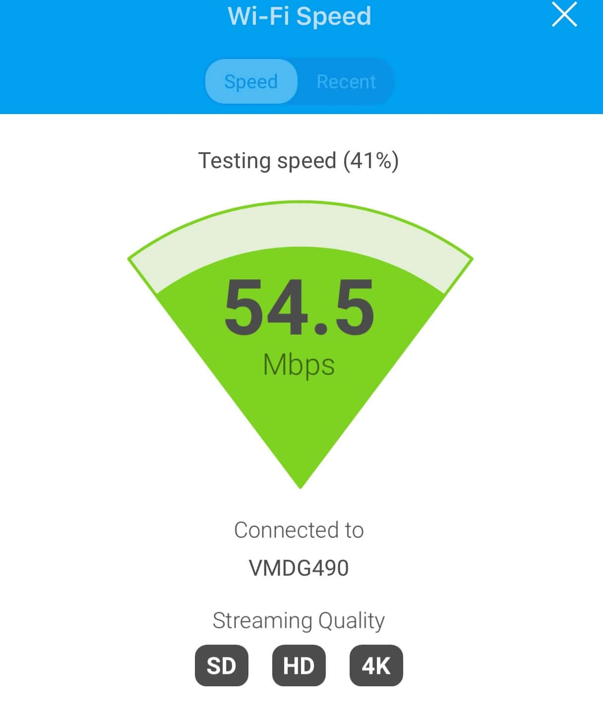 Fingbox wifi speed