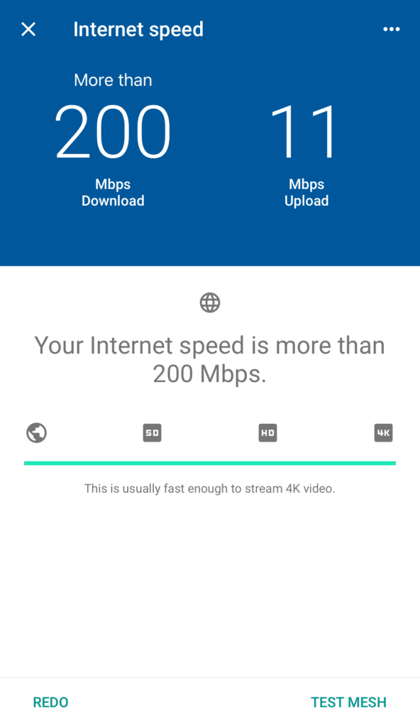 Google Wi-Fi Speed