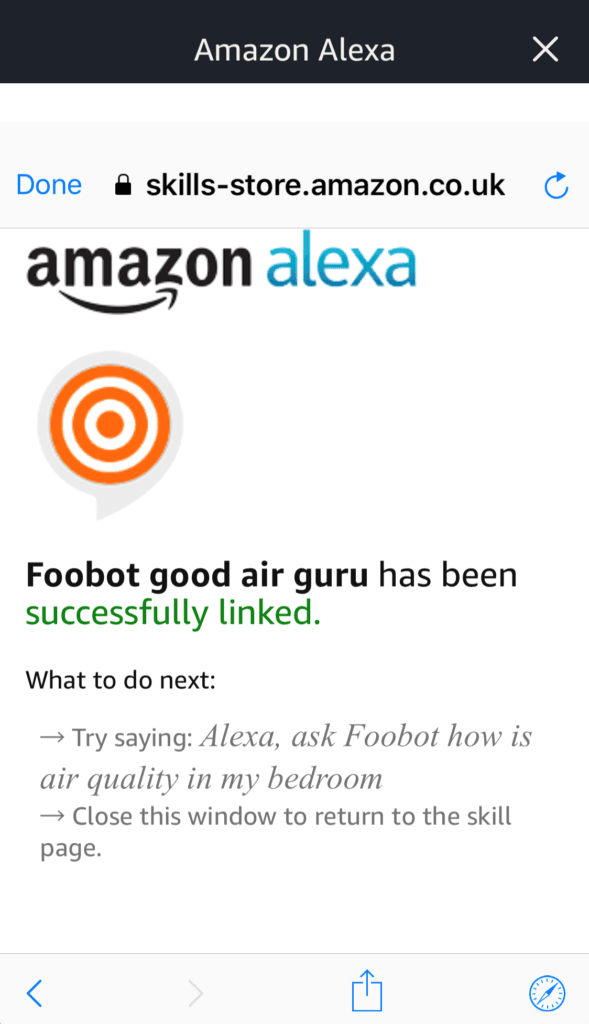 Foobot Alexa