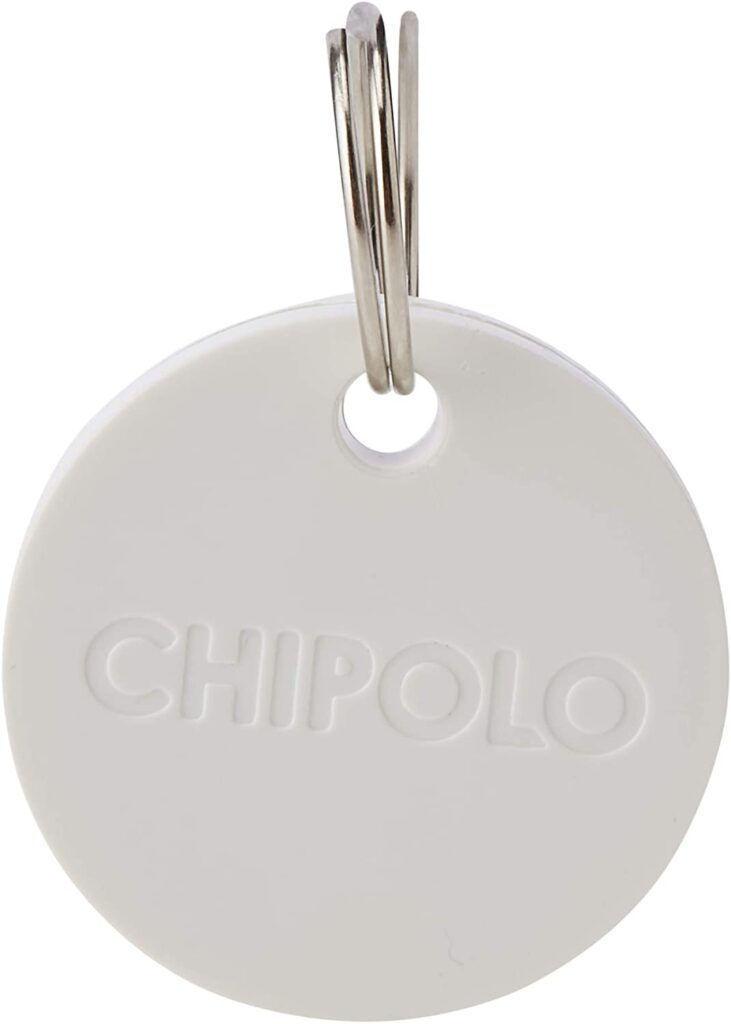 Chipolo Plus Smart Keyring Item Finder Bluetooth Tracker - Pearl White