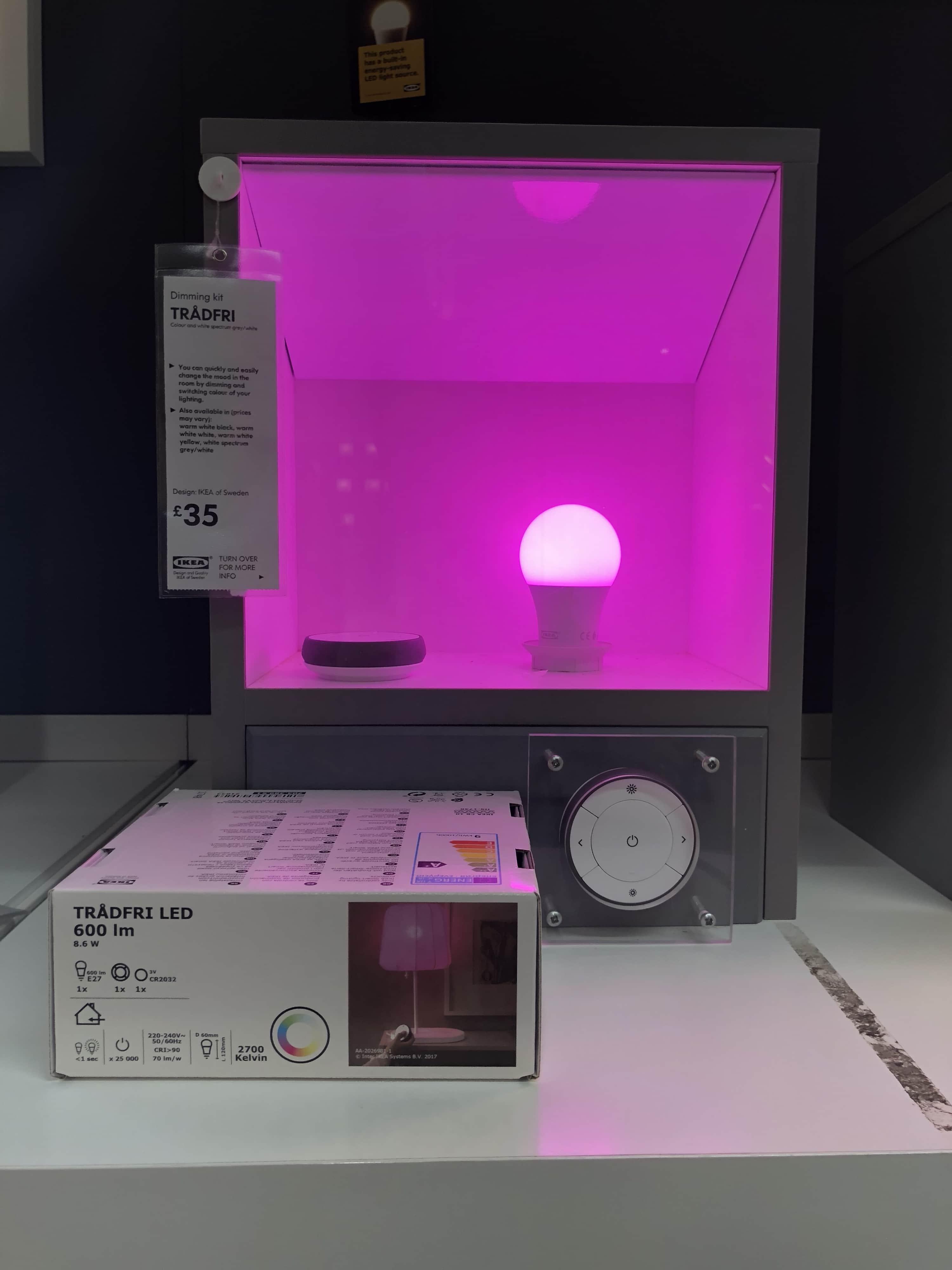 IKEA trådfri colour hits UK stores