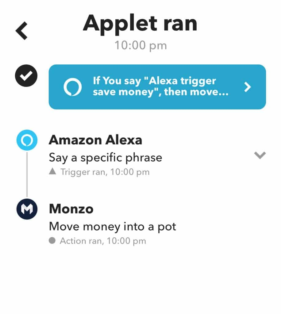 Monzo connect IFTTT